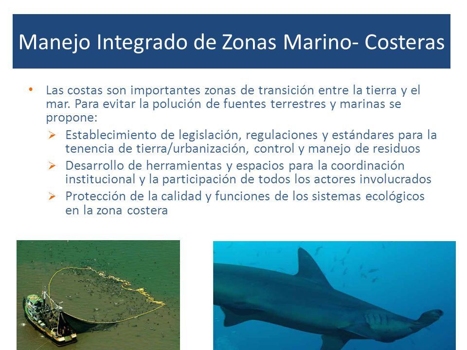 Manejo Integrado de Zonas Marino- Costeras