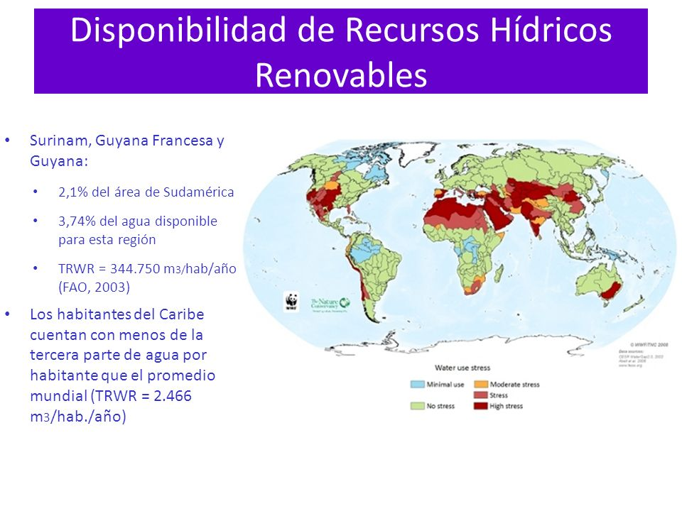 Disponibilidad de Recursos Hídricos Renovables