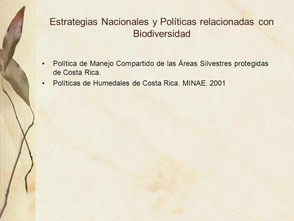 Estrategias Nacionales y Políticas relacionadas con Biodiversidad