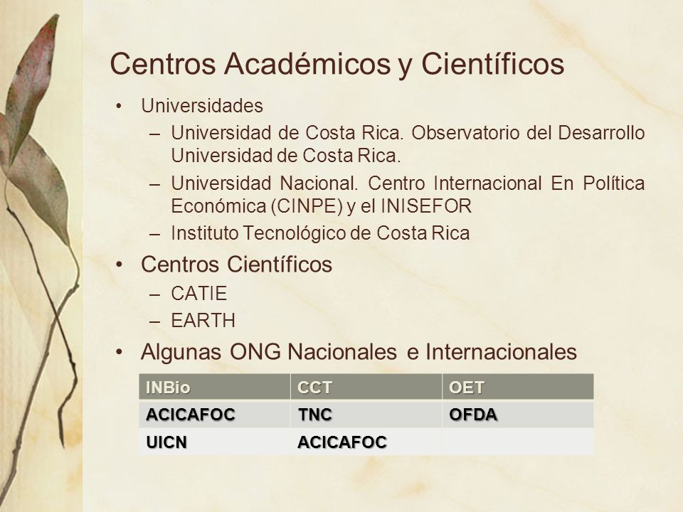 Centros Académicos y Científicos
