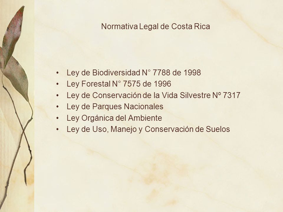 Normativa Legal de Costa Rica