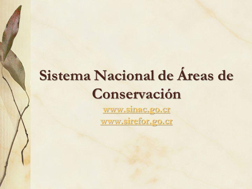 Sistema Nacional de Áreas de Conservación www. sinac. go. cr www