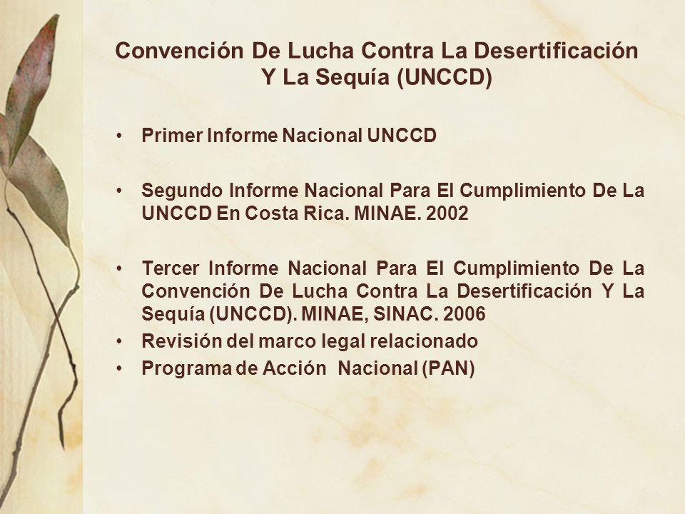 Convención De Lucha Contra La Desertificación Y La Sequía (UNCCD)