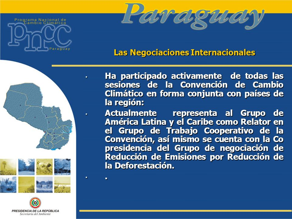 Las Negociaciones Internacionales