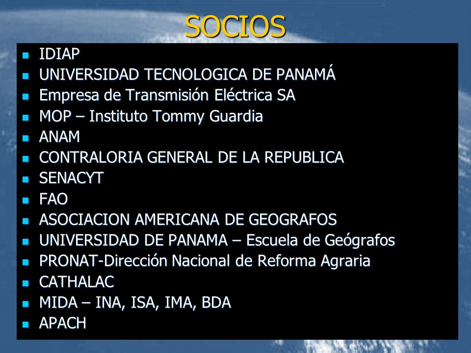 SOCIOS IDIAP UNIVERSIDAD TECNOLOGICA DE PANAMÁ