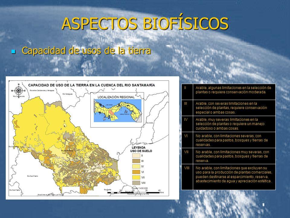 ASPECTOS BIOFÍSICOS Capacidad de usos de la tierra II