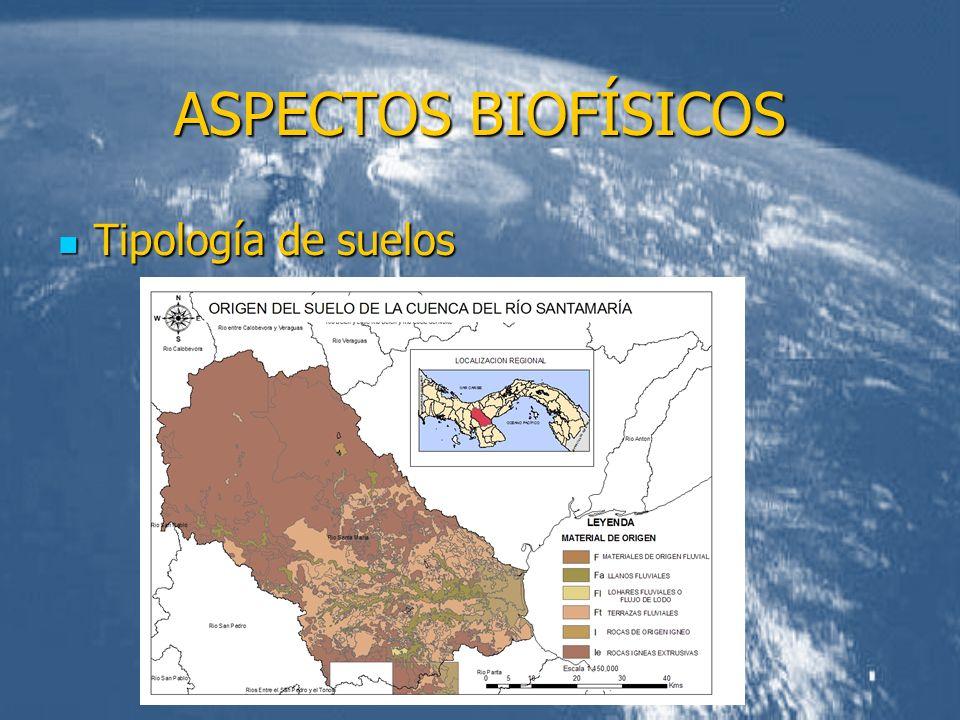ASPECTOS BIOFÍSICOS Tipología de suelos