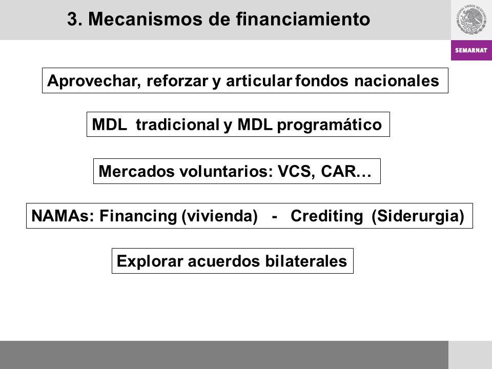 3. Mecanismos de financiamiento