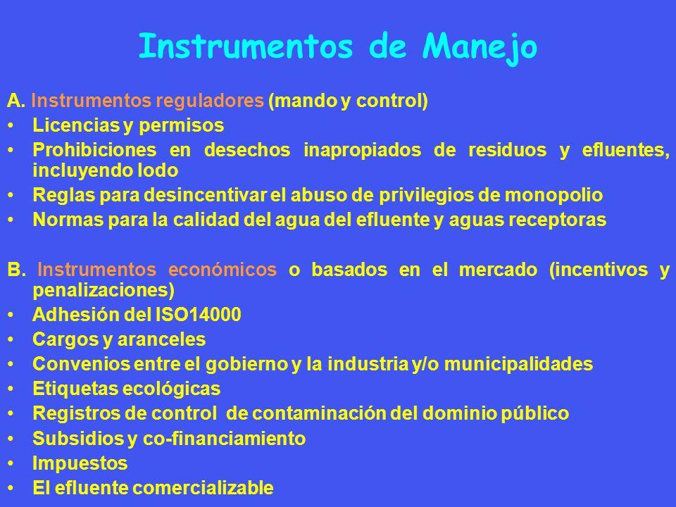Instrumentos de Manejo