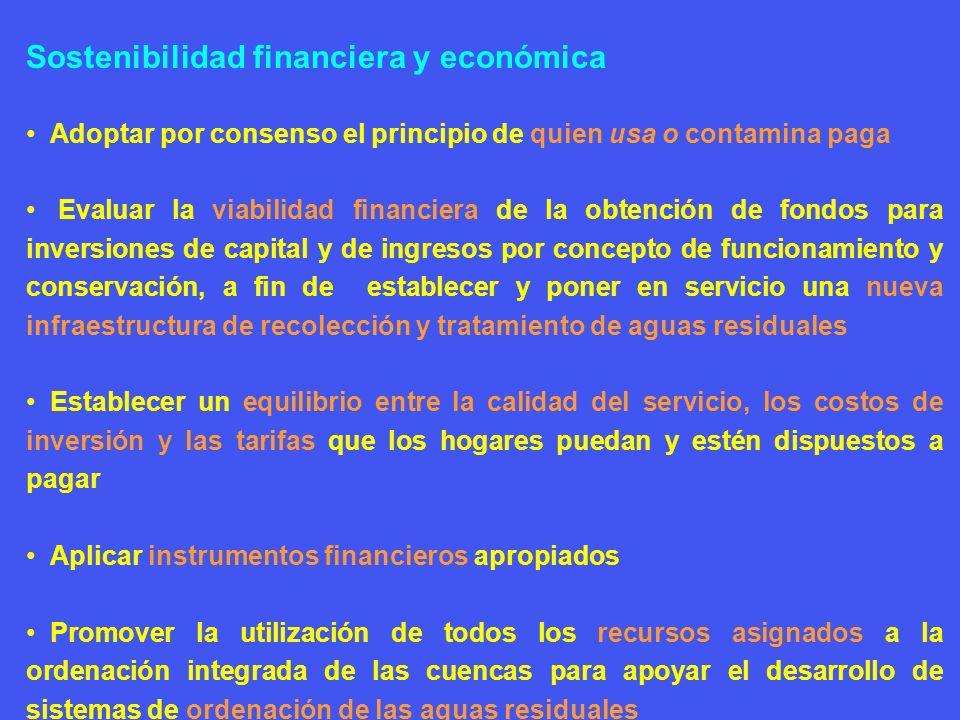 Sostenibilidad financiera y económica