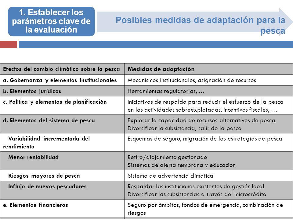 1. Establecer los parámetros clave de la evaluación