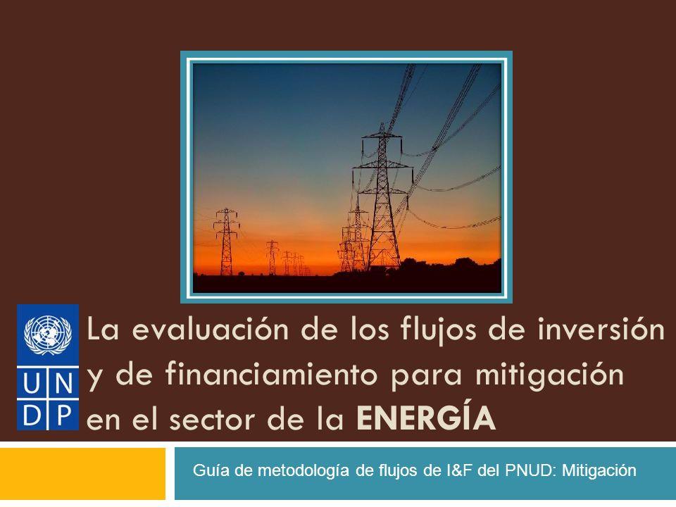 La evaluación de los flujos de inversión y de financiamiento para mitigación en el sector de la ENERGÍA