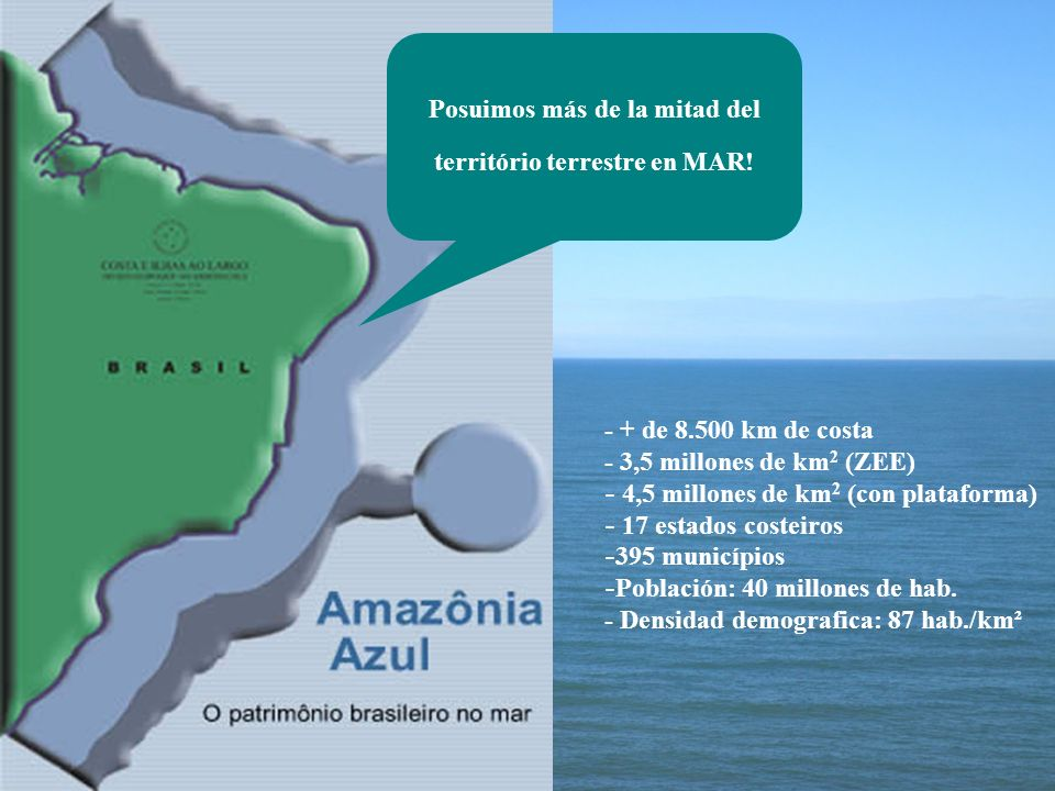 Posuimos más de la mitad del território terrestre en MAR!