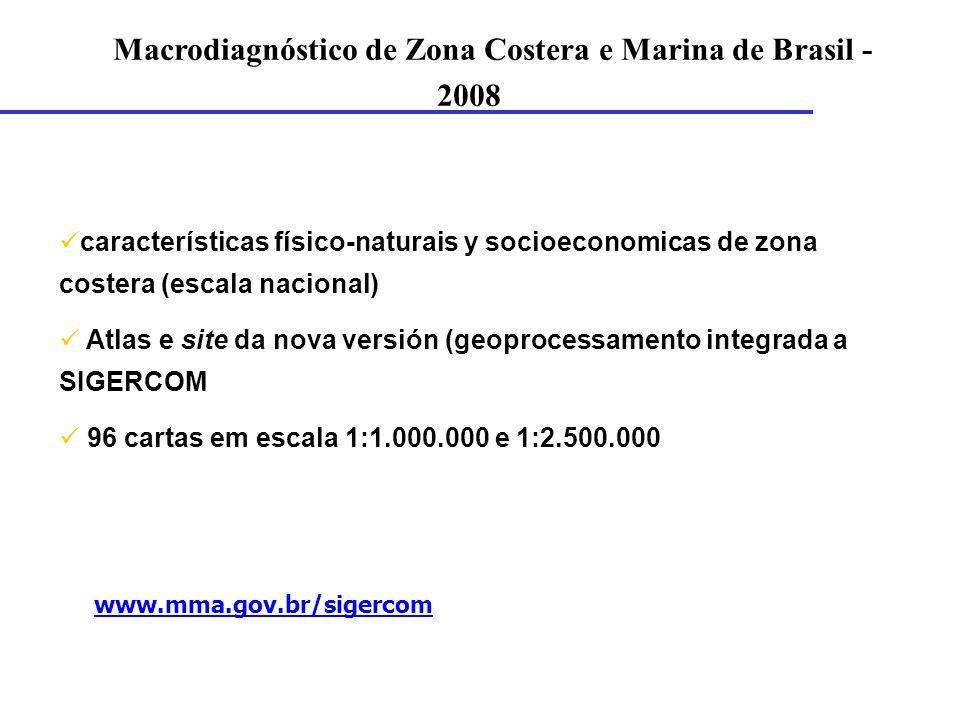 Macrodiagnóstico de Zona Costera e Marina de Brasil - 2008
