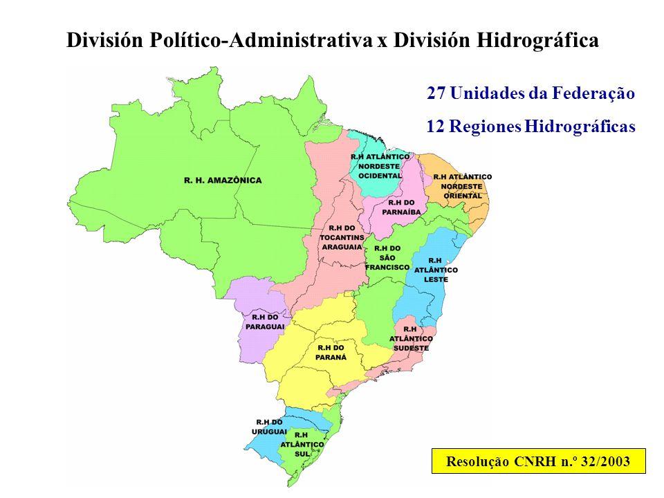 División Político-Administrativa x División Hidrográfica