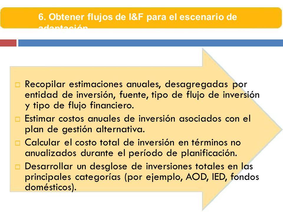 6. Obtener flujos de I&F para el escenario de adaptación
