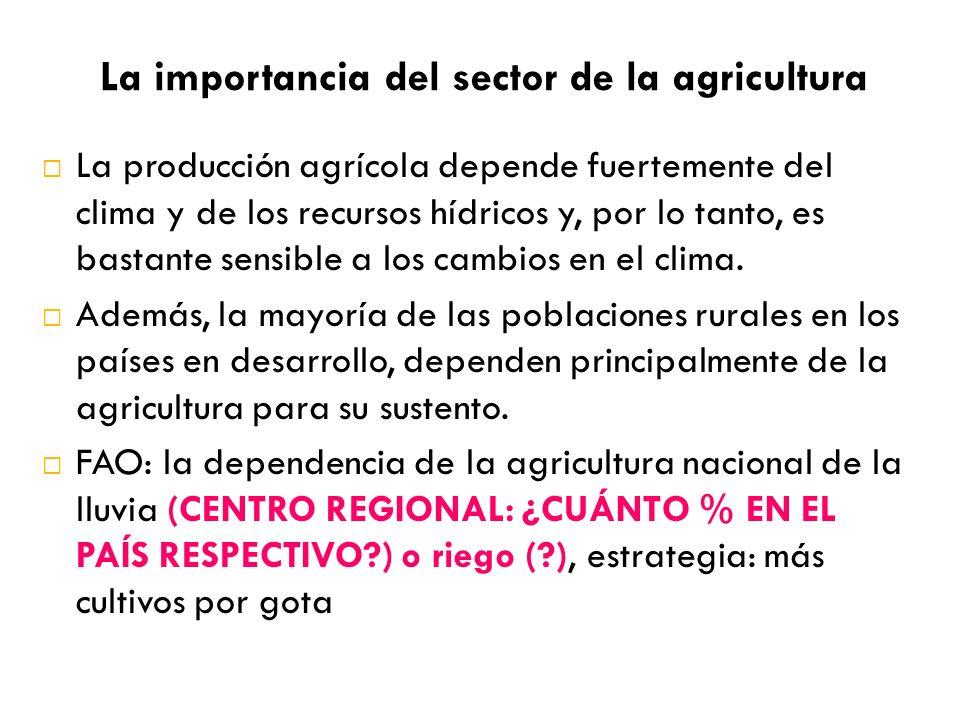 La importancia del sector de la agricultura