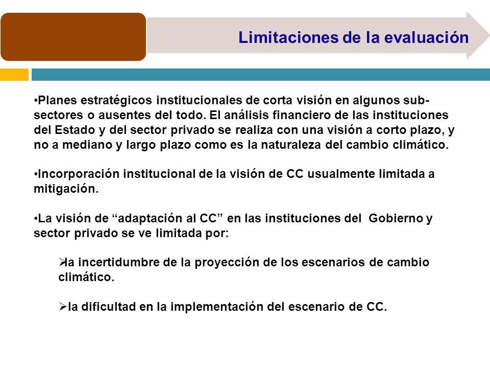 Limitaciones de la evaluación