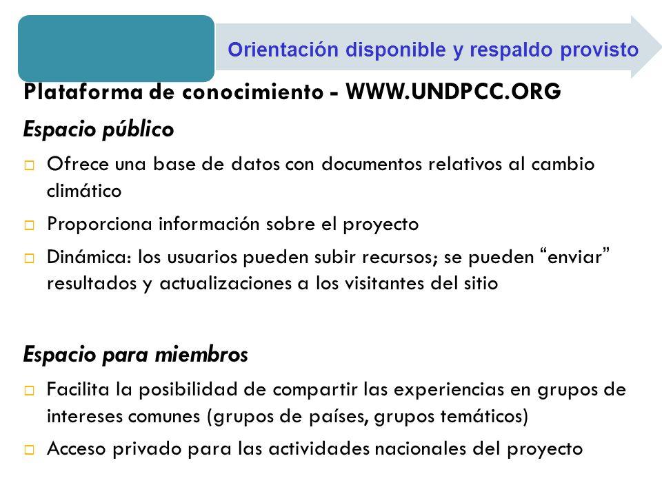Plataforma de conocimiento - WWW.UNDPCC.ORG Espacio público