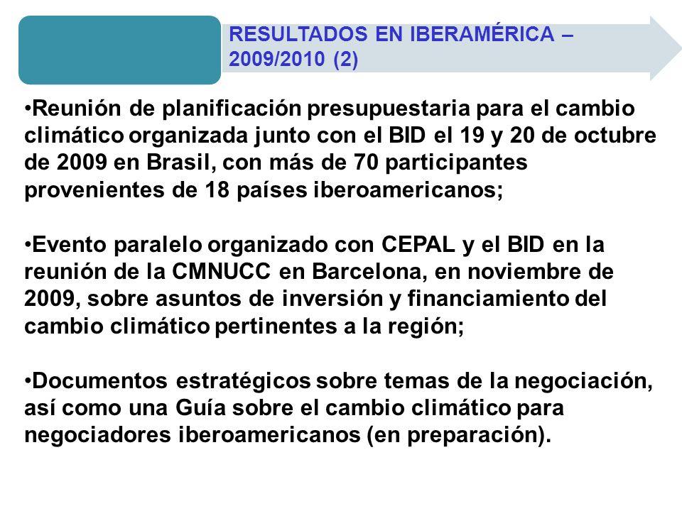 RESULTADOS EN IBERAMÉRICA – 2009/2010 (2)