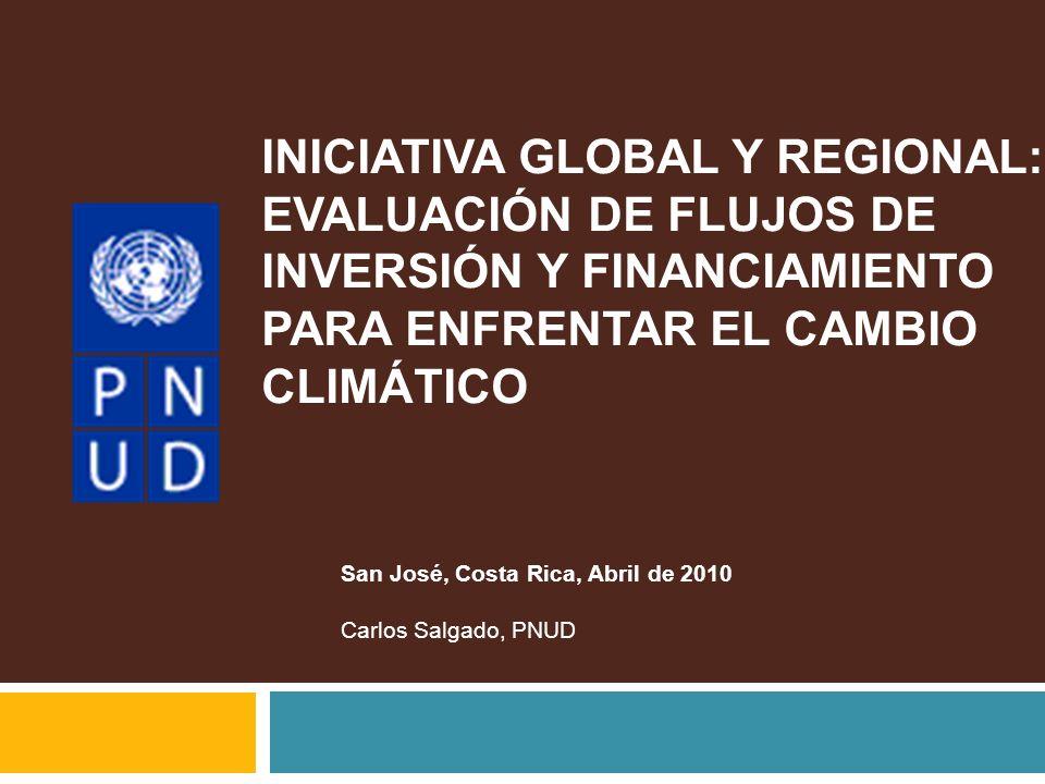 INICIATIVA GLOBAL Y REGIONAL: EVALUACIÓN DE FLUJOS DE INVERSIÓN Y FINANCIAMIENTO PARA ENFRENTAR EL CAMBIO CLIMÁTICO