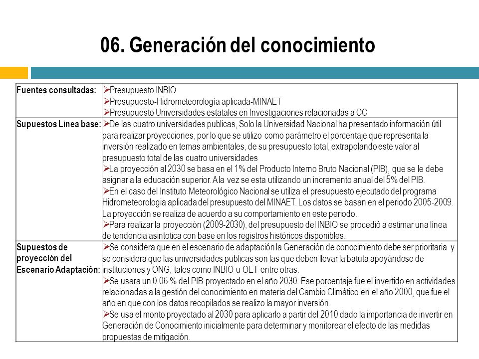 06. Generación del conocimiento