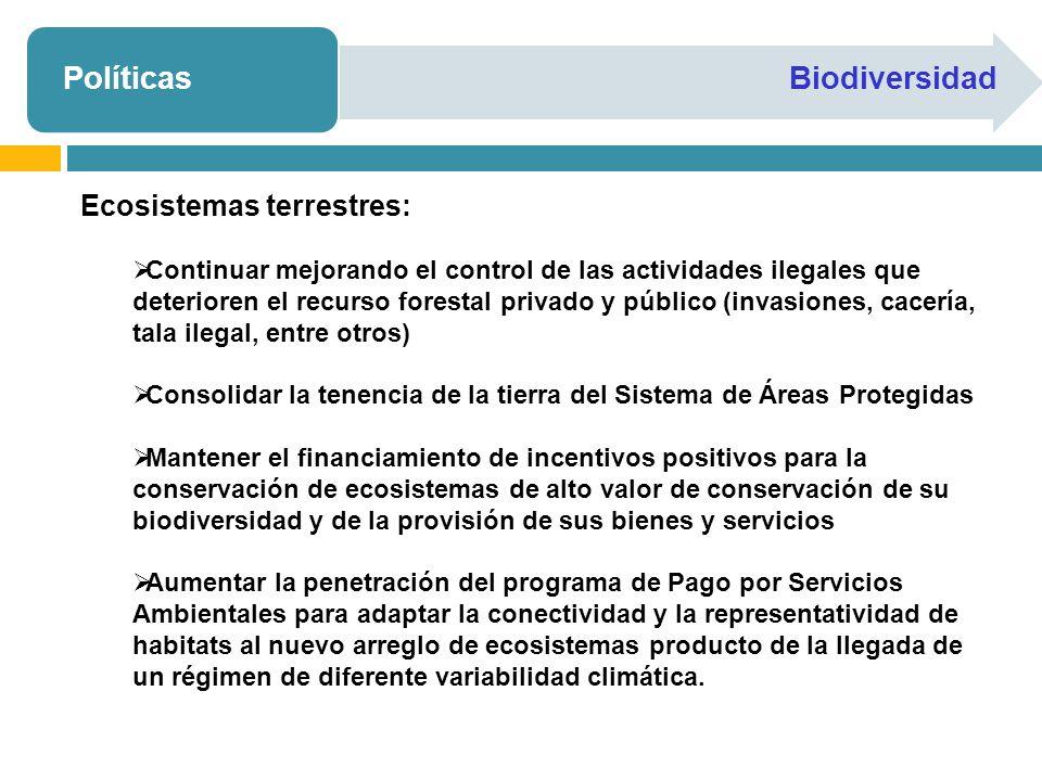 Políticas Biodiversidad Ecosistemas terrestres: