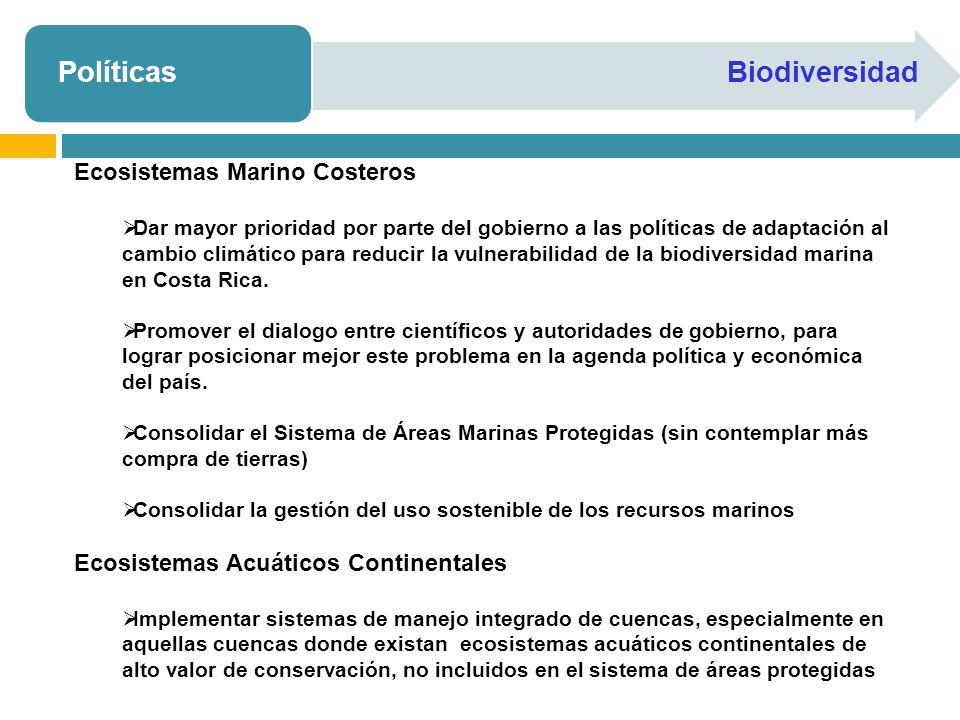 Políticas Biodiversidad Ecosistemas Marino Costeros