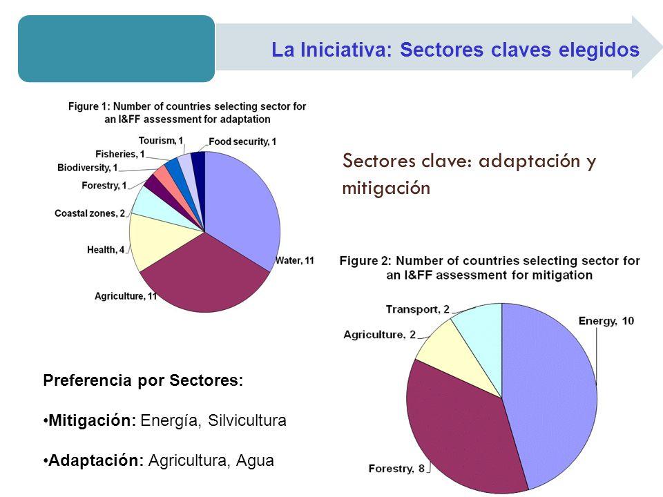 Sectores clave: adaptación y mitigación