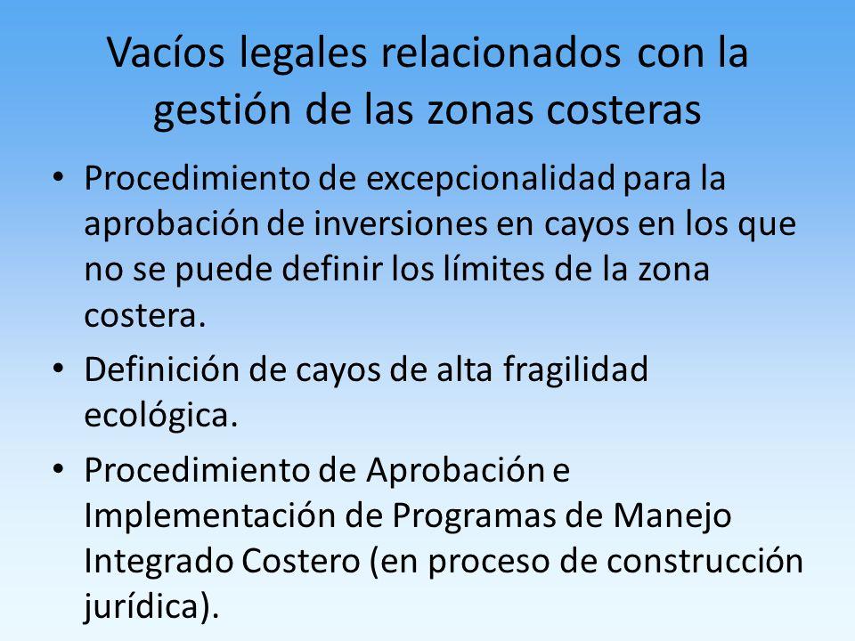 Vacíos legales relacionados con la gestión de las zonas costeras