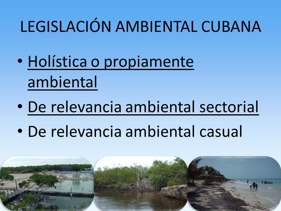 LEGISLACIÓN AMBIENTAL CUBANA