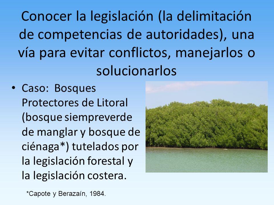 Conocer la legislación (la delimitación de competencias de autoridades), una vía para evitar conflictos, manejarlos o solucionarlos