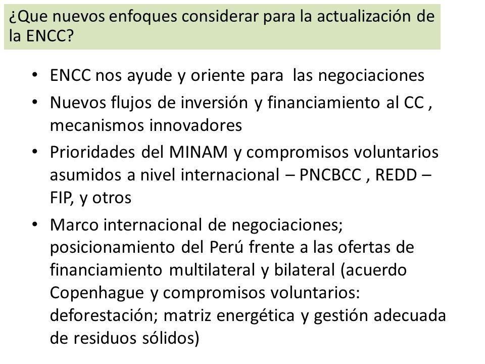 ENCC nos ayude y oriente para las negociaciones