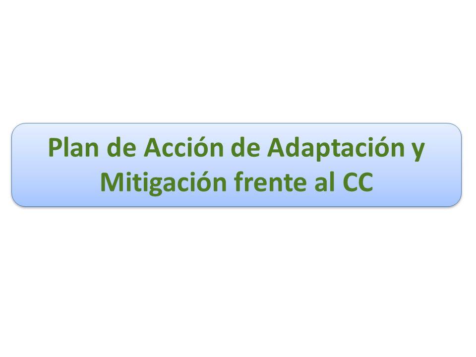 Plan de Acción de Adaptación y Mitigación frente al CC