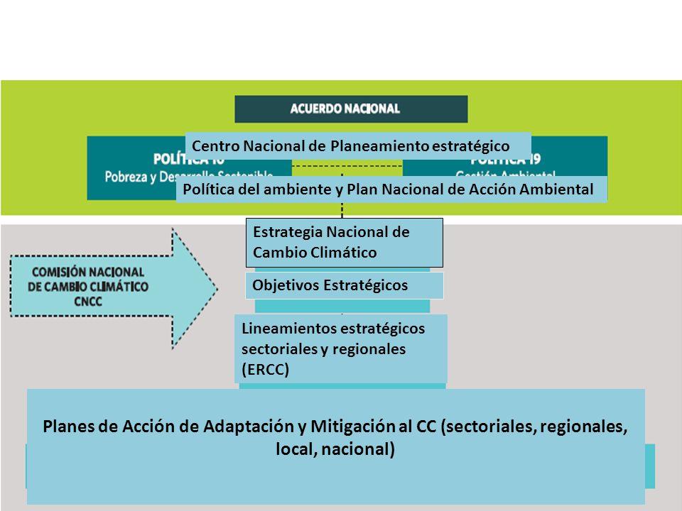 Política Centro Nacional de Planeamiento estratégico. Política del ambiente y Plan Nacional de Acción Ambiental.