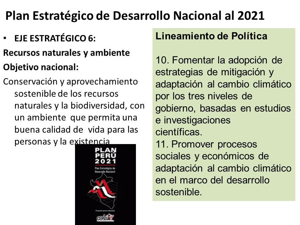 Plan Estratégico de Desarrollo Nacional al 2021