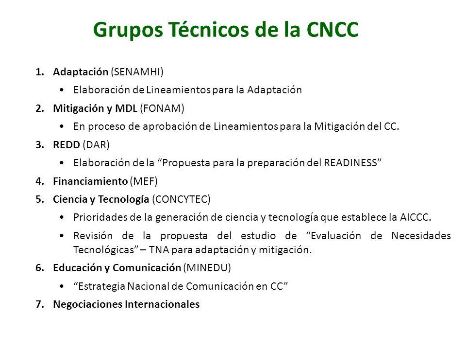 Grupos Técnicos de la CNCC