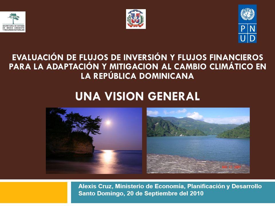 EVALUACIÓN DE FLUJOS DE INVERSIÓN Y FLUJOS FINANCIEROS PARA LA ADAPTACIÓN Y MITIGACION AL CAMBIO CLIMÁTICO EN LA REPÚBLICA DOMINICANA UNA VISION GENERAL