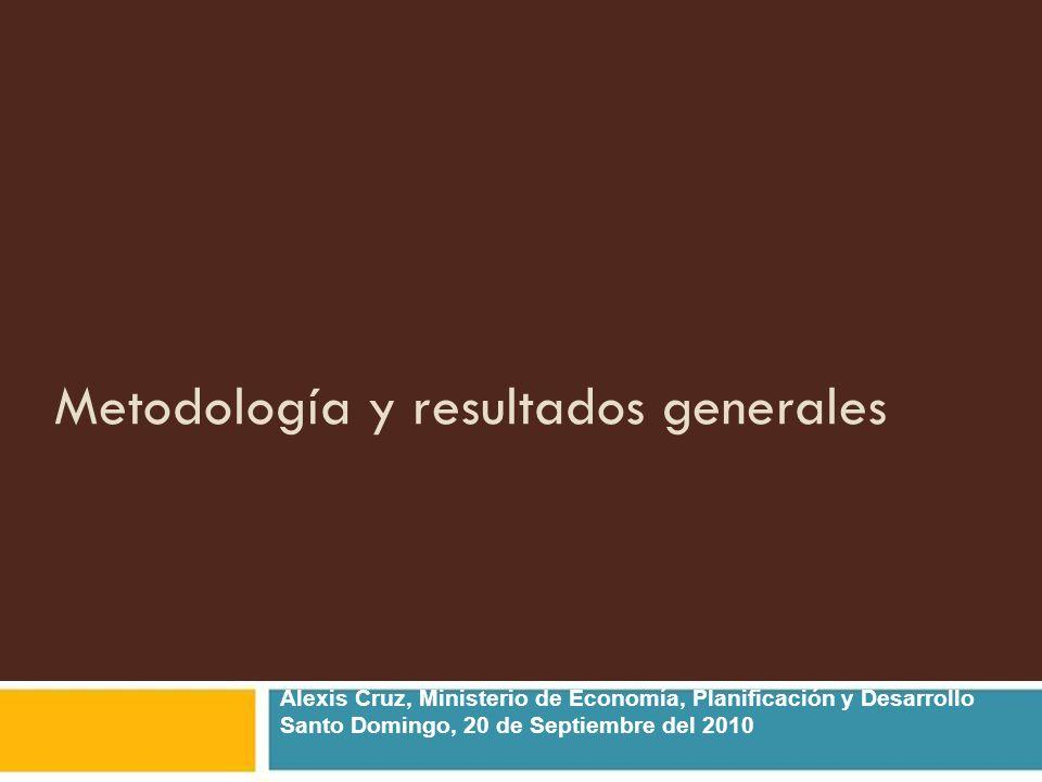 Metodología y resultados generales