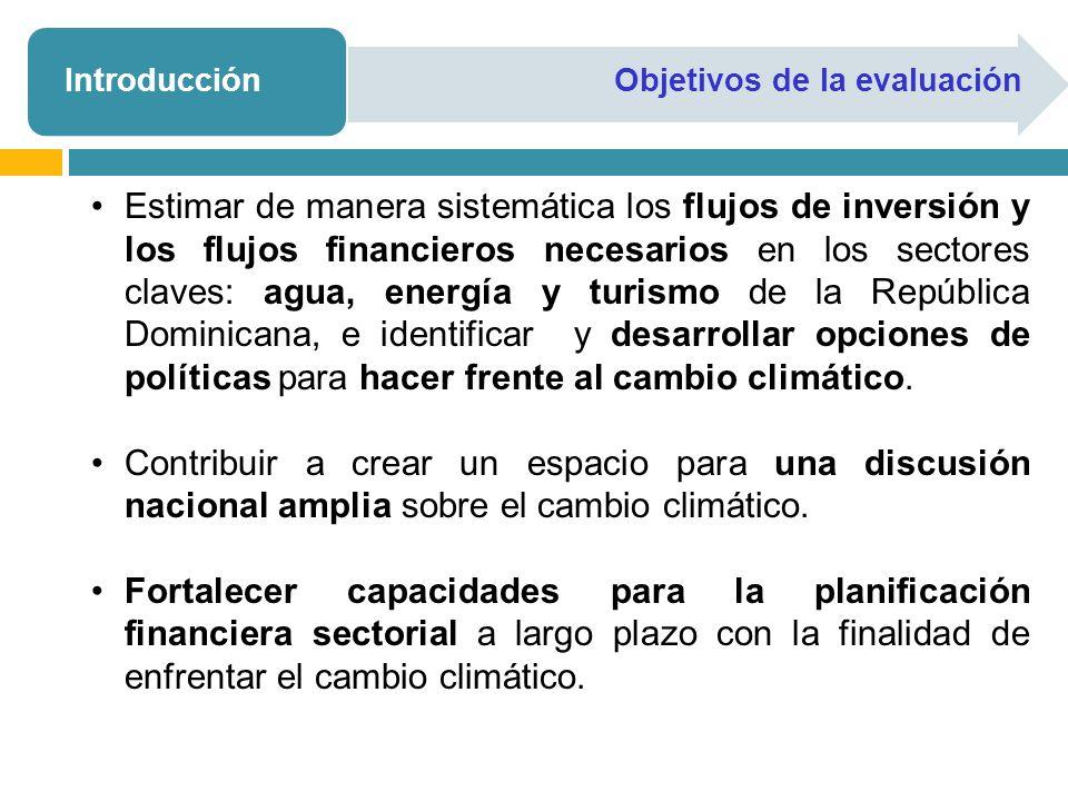 Introducción Objetivos de la evaluación.