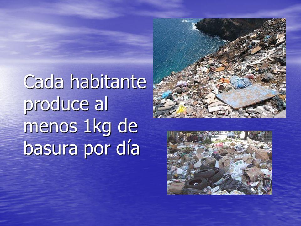 Cada habitante produce al menos 1kg de basura por día