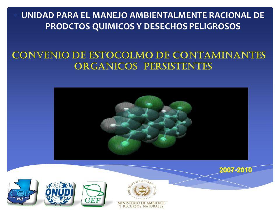 CONVENIO DE ESTOCOLMO DE CONTAMINANTES ORGANICOS PERSISTENTES