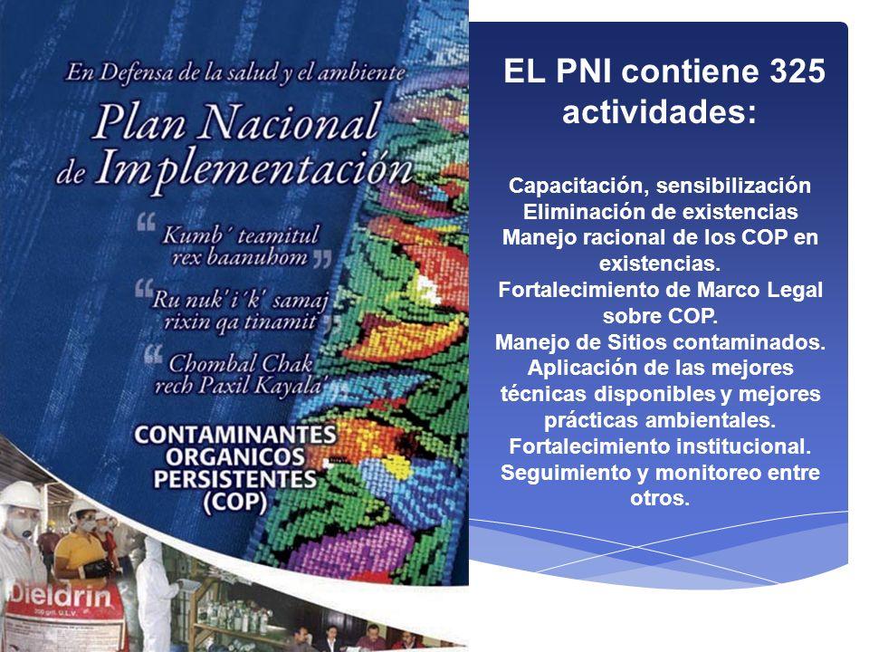 EL PNI contiene 325 actividades: