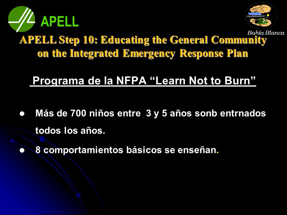 Programa de la NFPA Learn Not to Burn