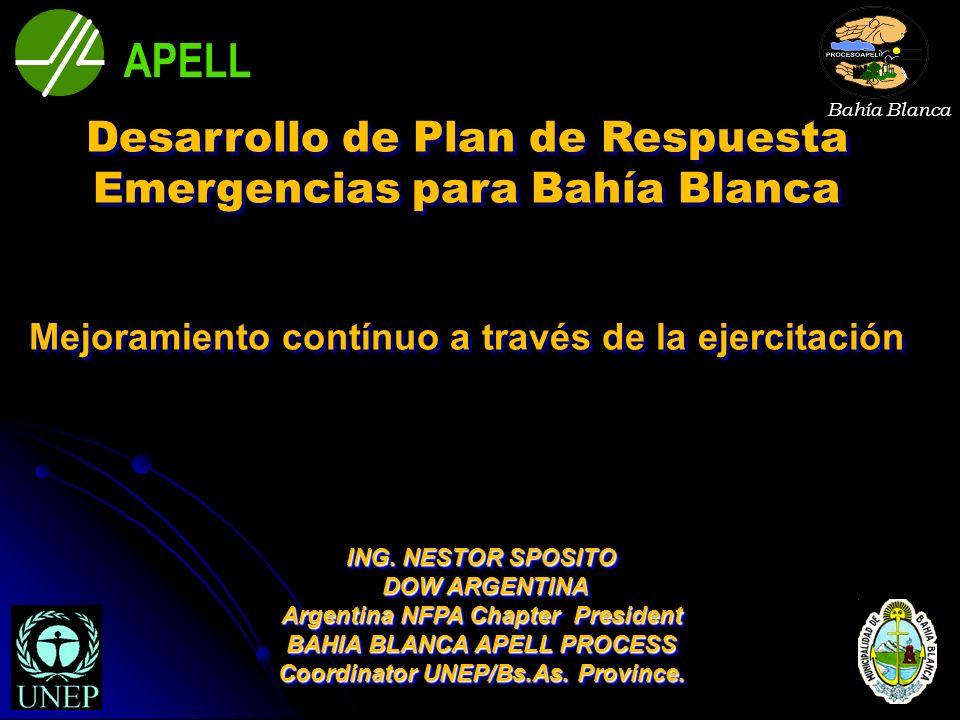 APELL Desarrollo de Plan de Respuesta Emergencias para Bahía Blanca
