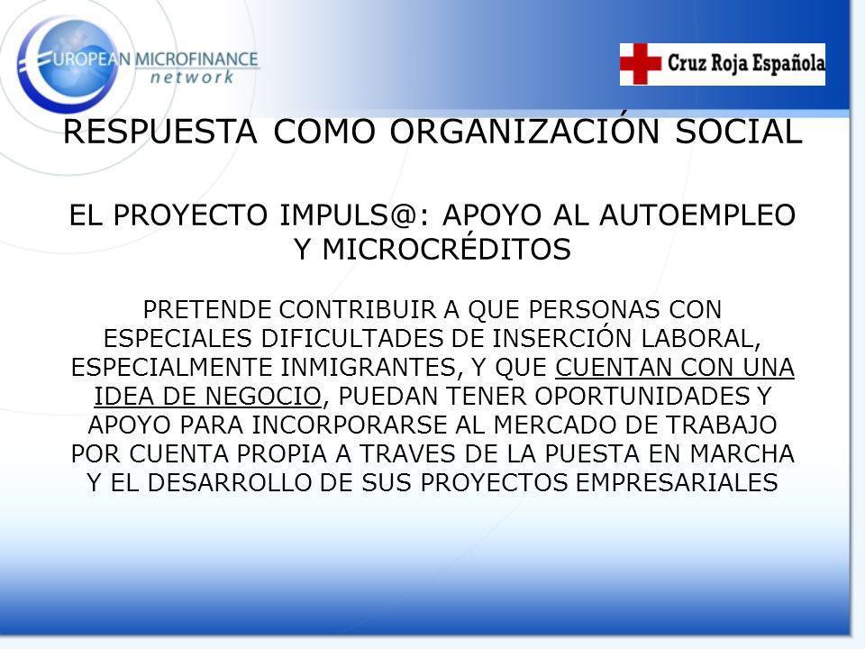 RESPUESTA COMO ORGANIZACIÓN SOCIAL