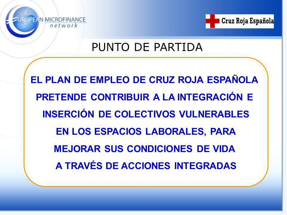 PUNTO DE PARTIDA EL PLAN DE EMPLEO DE CRUZ ROJA ESPAÑOLA