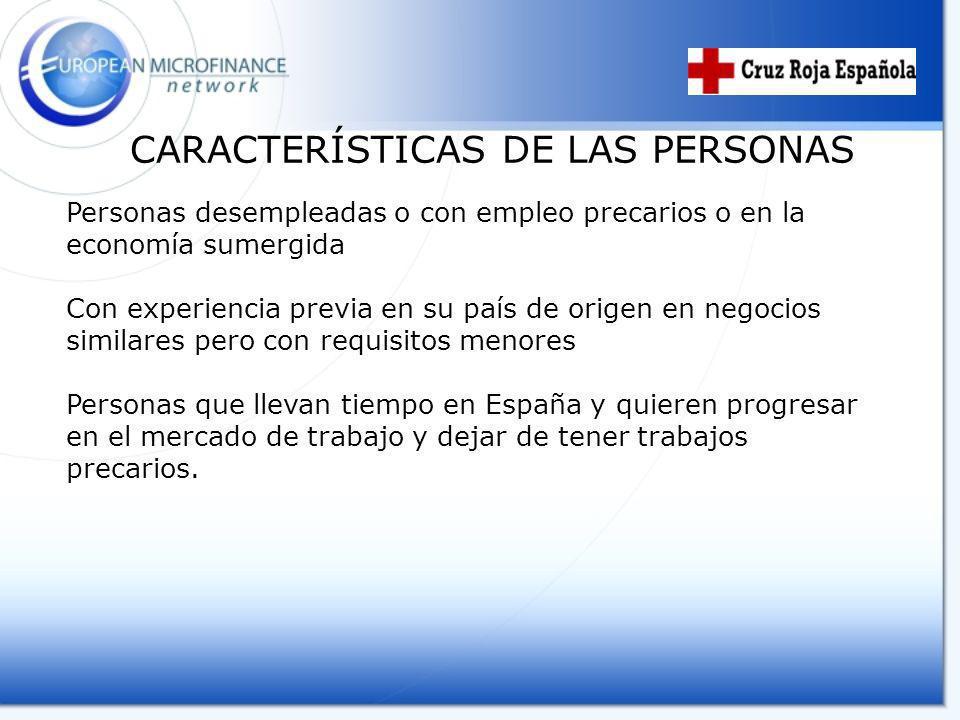 CARACTERÍSTICAS DE LAS PERSONAS