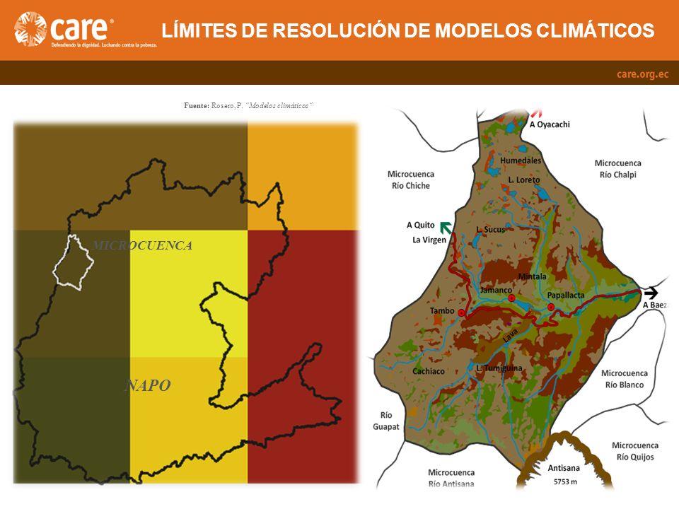 LÍMITES DE RESOLUCIÓN DE MODELOS CLIMÁTICOS