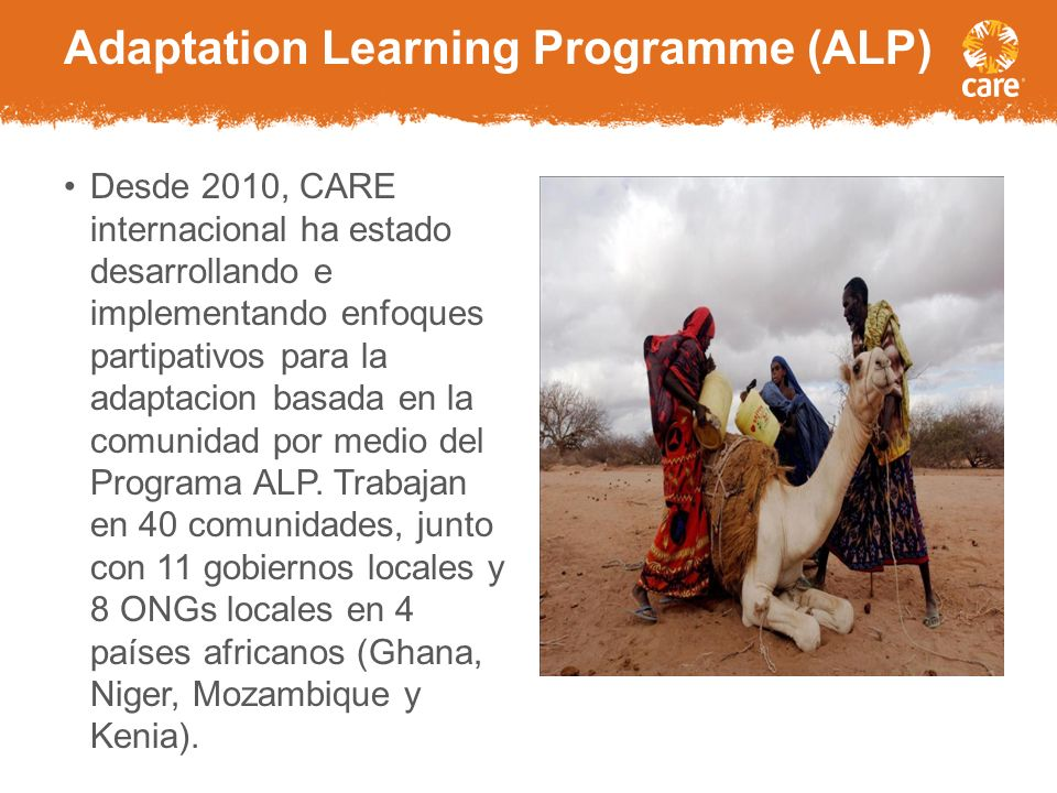 Adaptation Learning Programme (ALP)